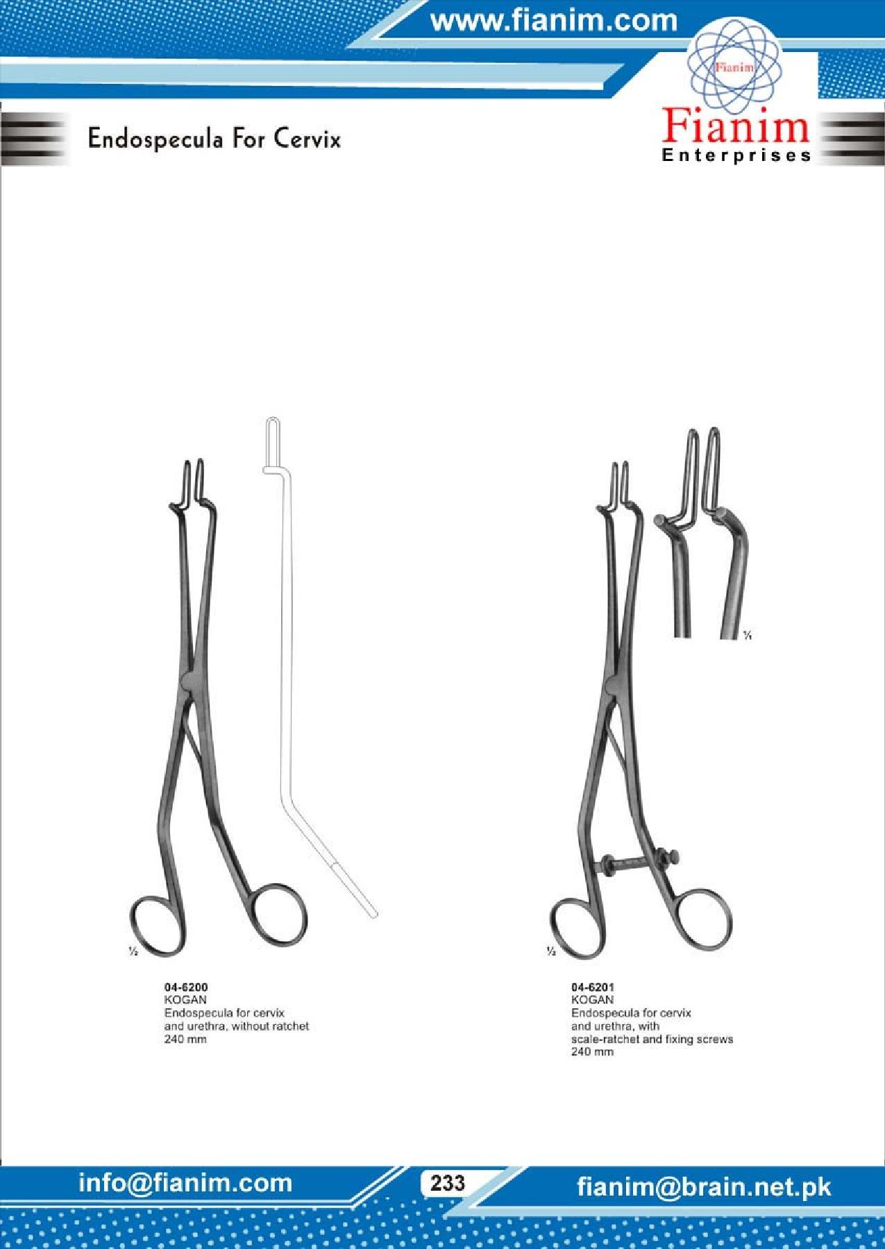 Utrine Dilators, Probes, Forceps, Myoma Instruments